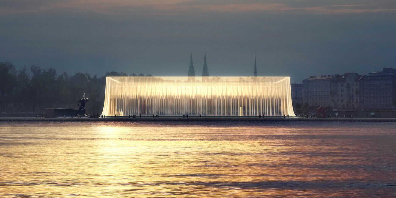グッゲンハイム・ヘルシンキ 建築設計コンペ 最終選考 完成予想図