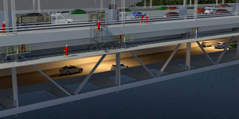 george washington bridge bim implementation