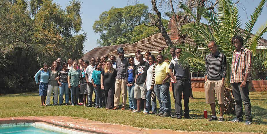 students at ZIVA in Zimbabwe.