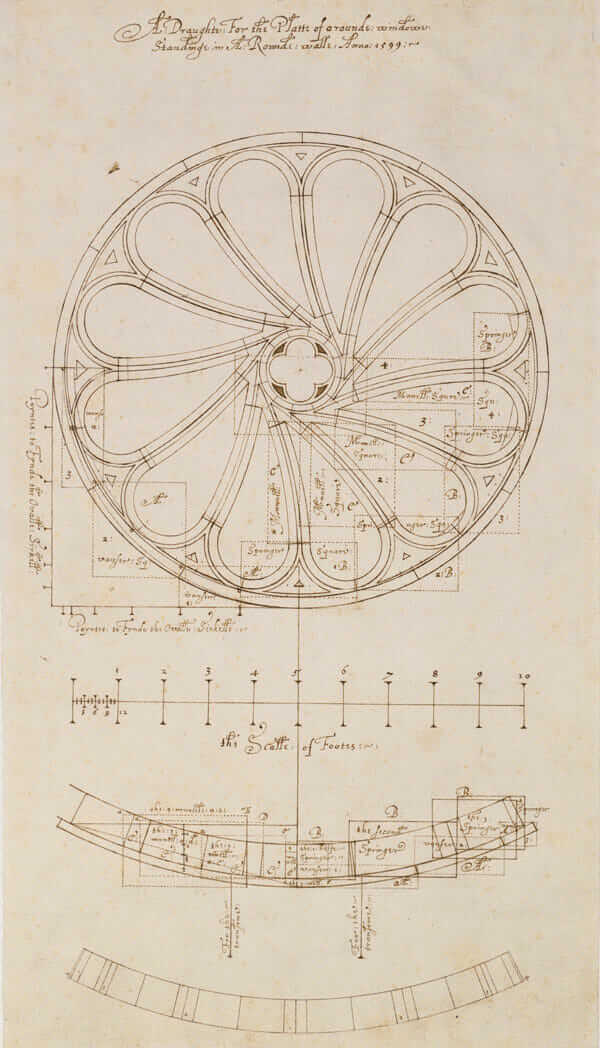 Robert Smythsons Original Design And Sketch For A Rose Window In 1599 Courtesy RIBA Library Drawings Collection