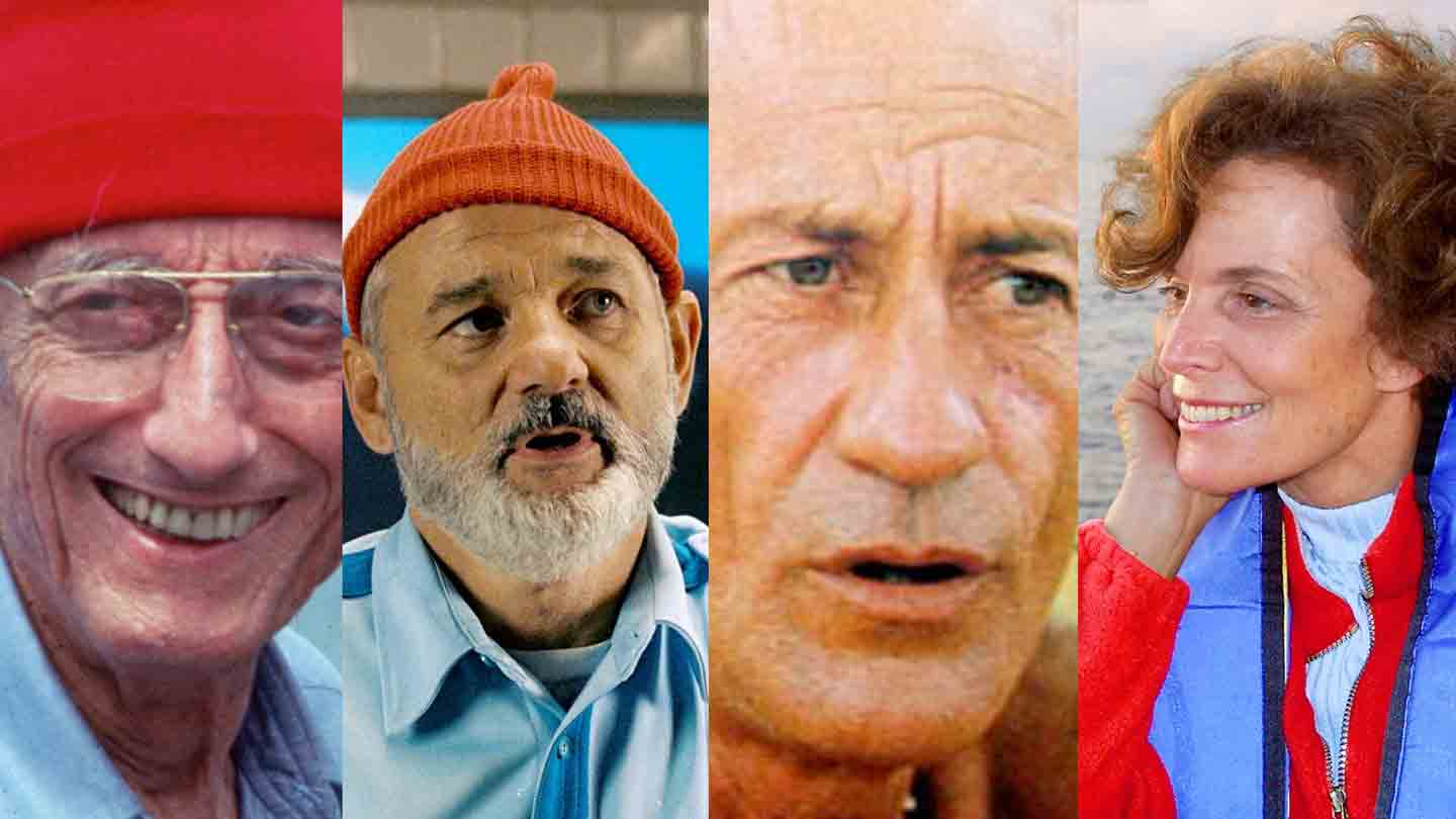 Jacques Cousteau, Steve Zissou, Bernard Moitessier, and Sylvia Earle