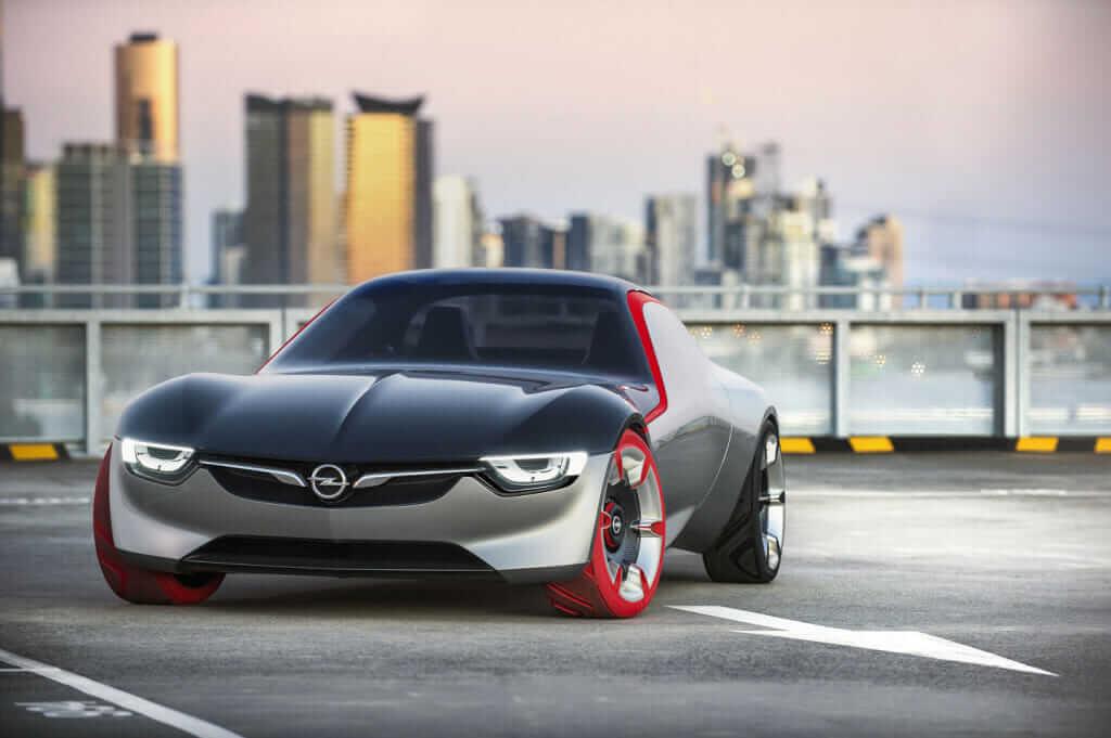 opel gt concept car front