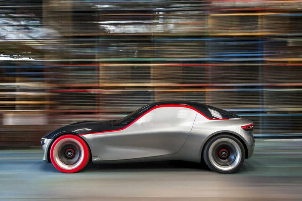 opel gt concept car side view