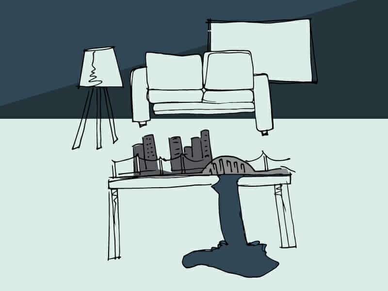 civil construction living room