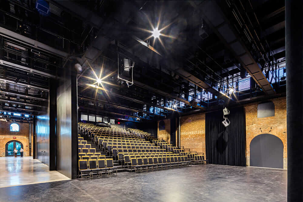 energy efficiency in historic buildings theater seating completed St. Ann's Warehouse