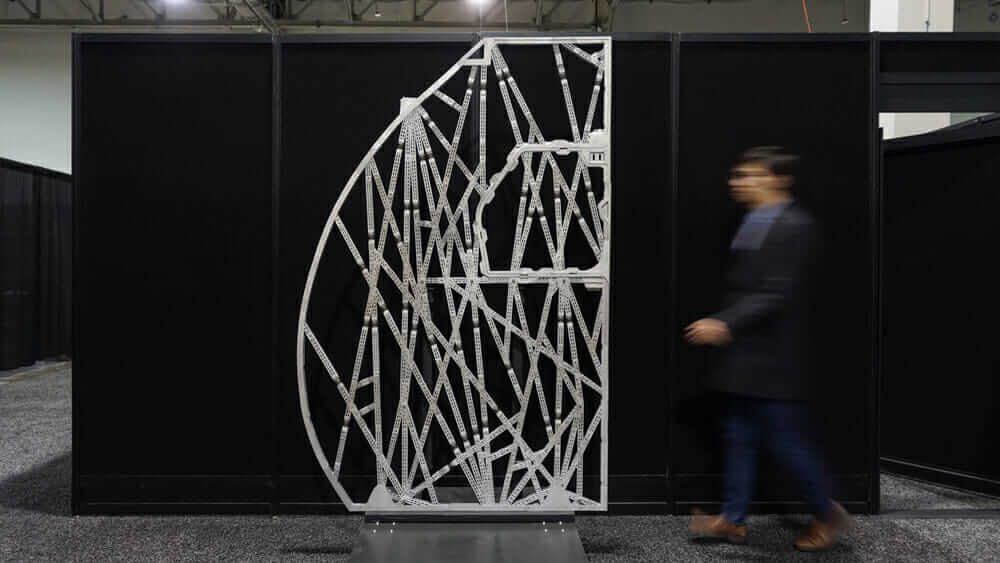 Das Design der bionischen Wand fand sein Vorbild in der Natur: Die Struktur gleicht einem Eizeller. Mit freundlicher Genehmigung von Airbus.