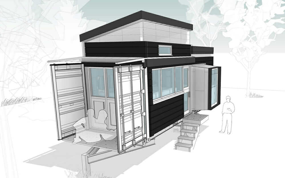 shipping-container home Bento Box project Sean Burke Unboxed House