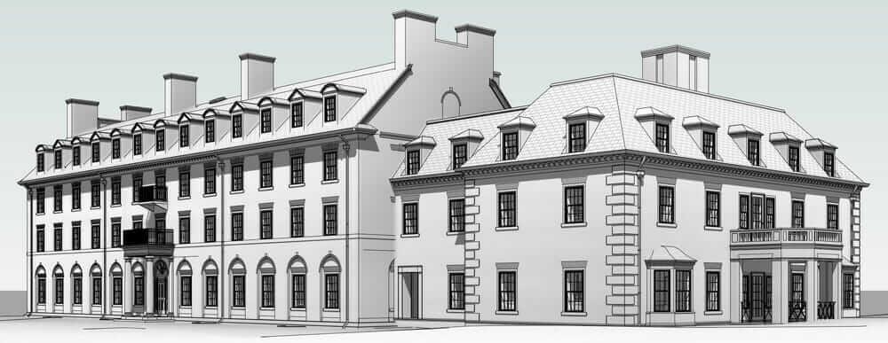3D-Ansicht der Hotchkiss School in Lakeville/Connecticut. Mit freundlicher Genehmigung von Newman Architects.