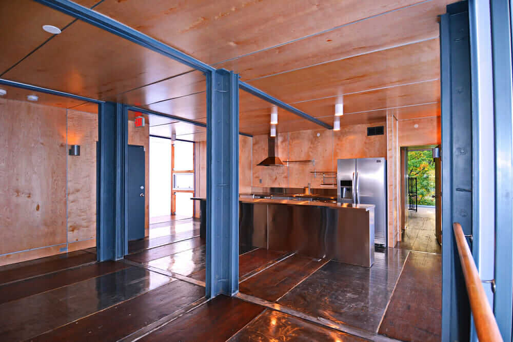 Shipping Container Home Seaua Kitchen Travis Price Architects