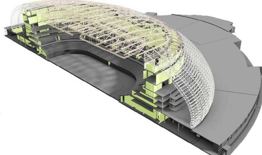 bim technology Fisht Olympic Stadium Sochi