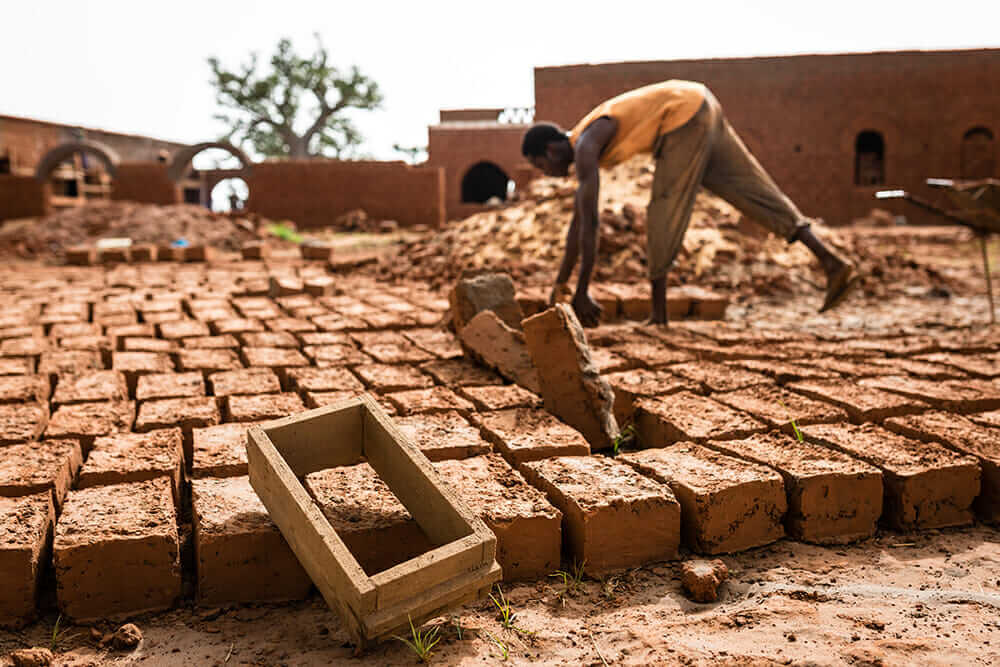 population growth in Africa bricks for nubian vault