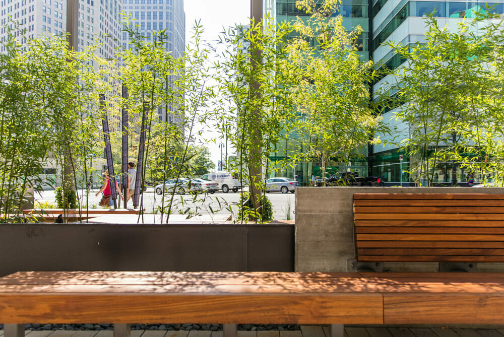 civil engineer and architect relationship 1001 Woodward Plaza hardscape