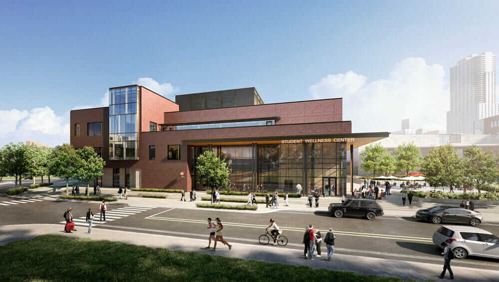土木エンジニアと建築家の関係 University of Colorado Denver Wellness Center