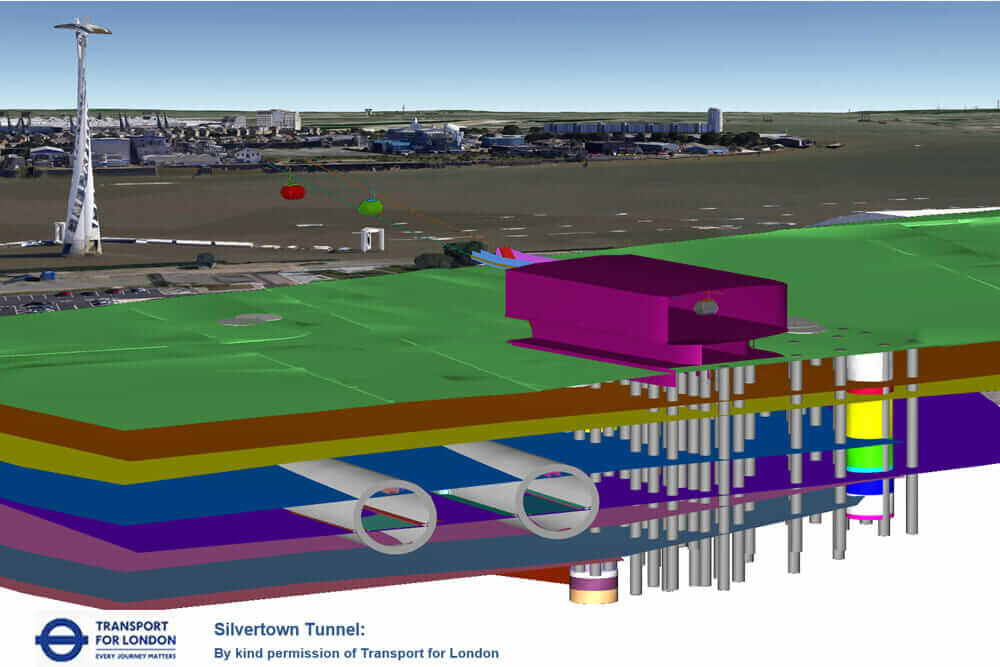 what is geotechnical engineering visualization of the cable car with subsurface layers