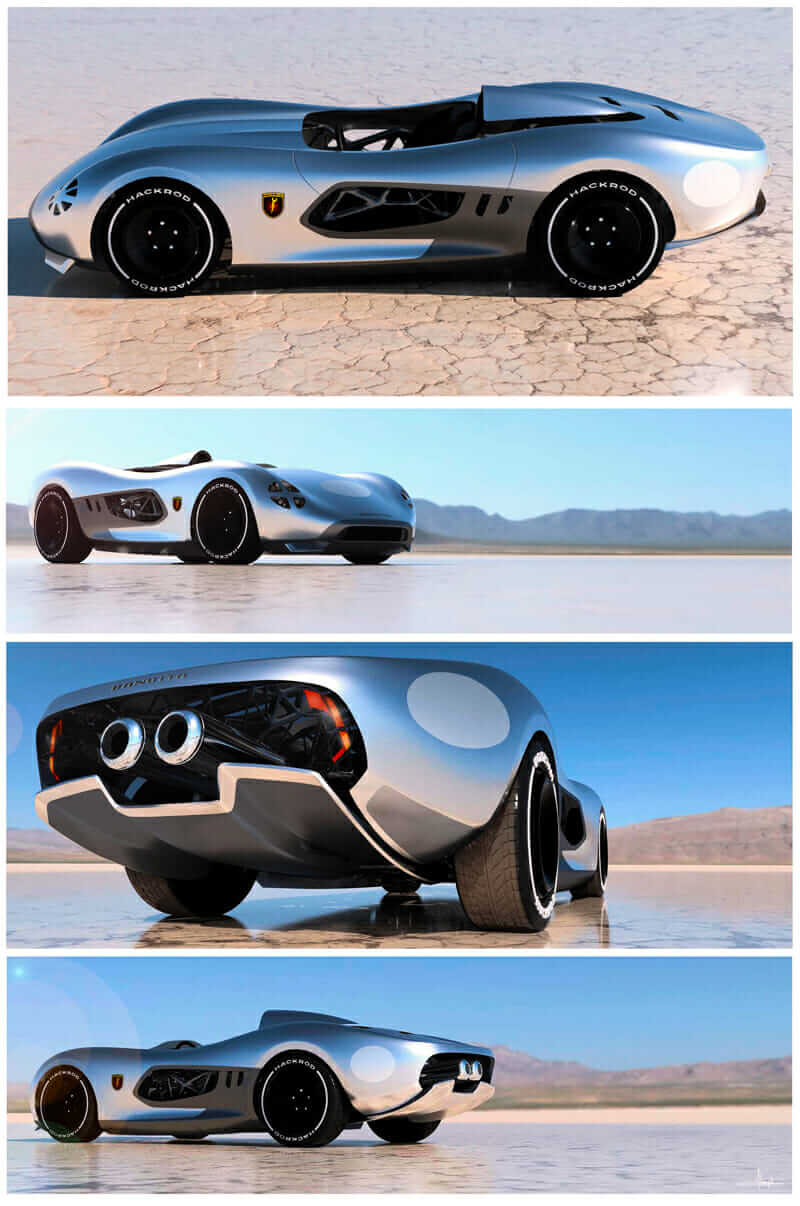 hack rod 3D-printed car