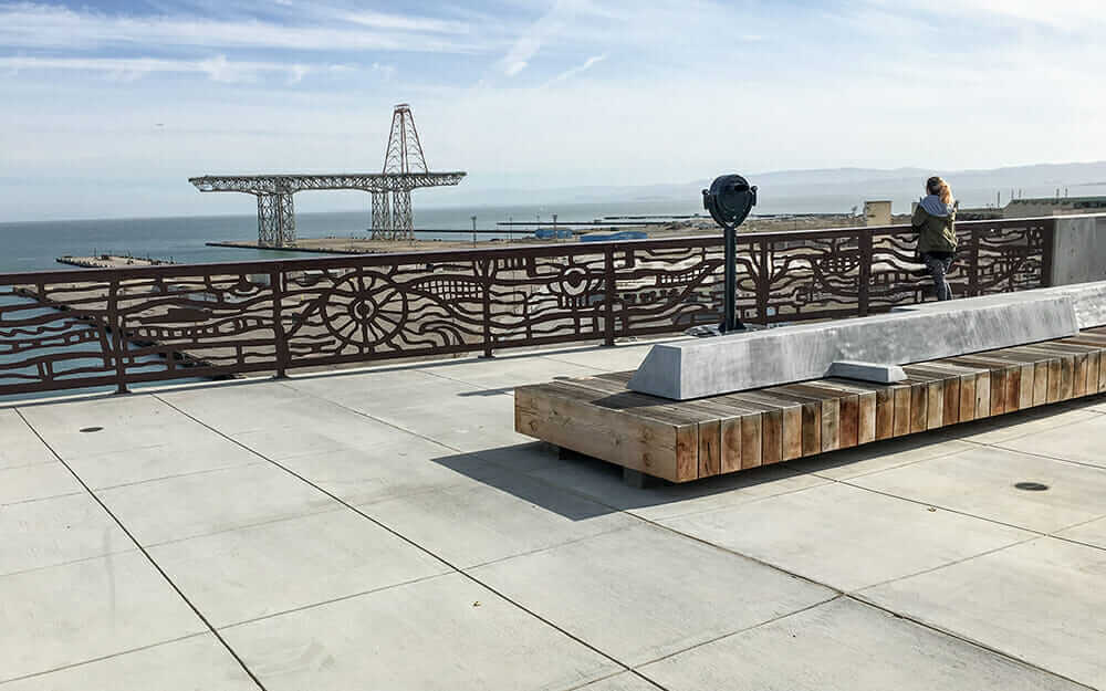 life of a landscape architect Hillpoint Park at the Hunter's Point Shipyard in San Francisco