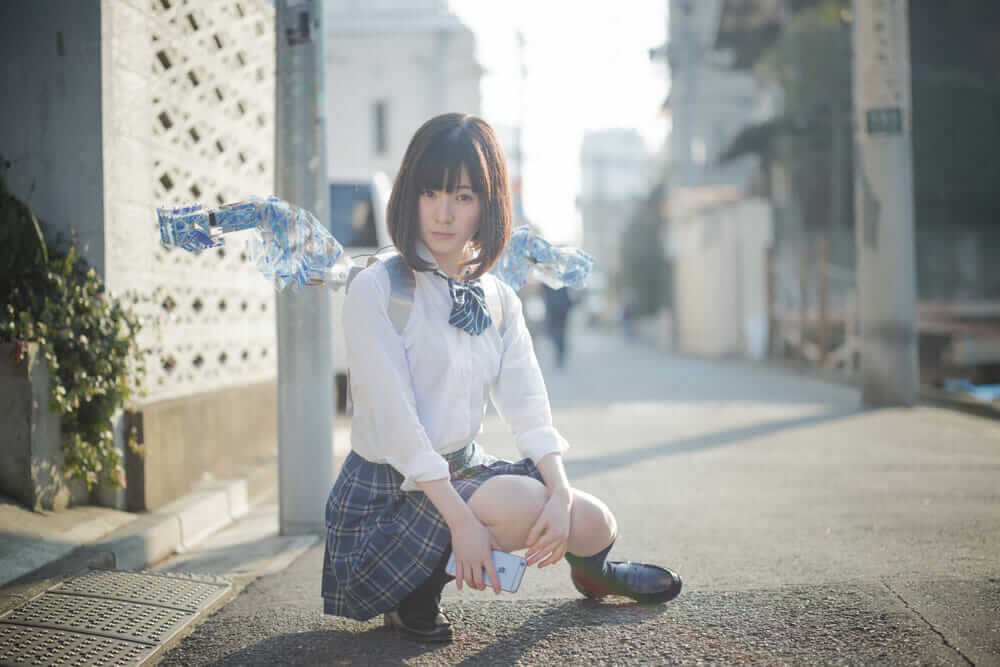 robotic fashion METCALF clione on model Riko Konoe