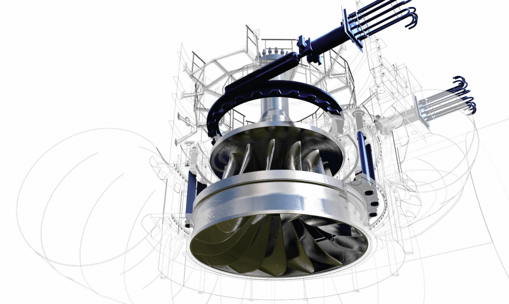 GE has already connected a hydro turbine in the French city of Briançon to the cloud. Image credit: GE Renewable Energy.