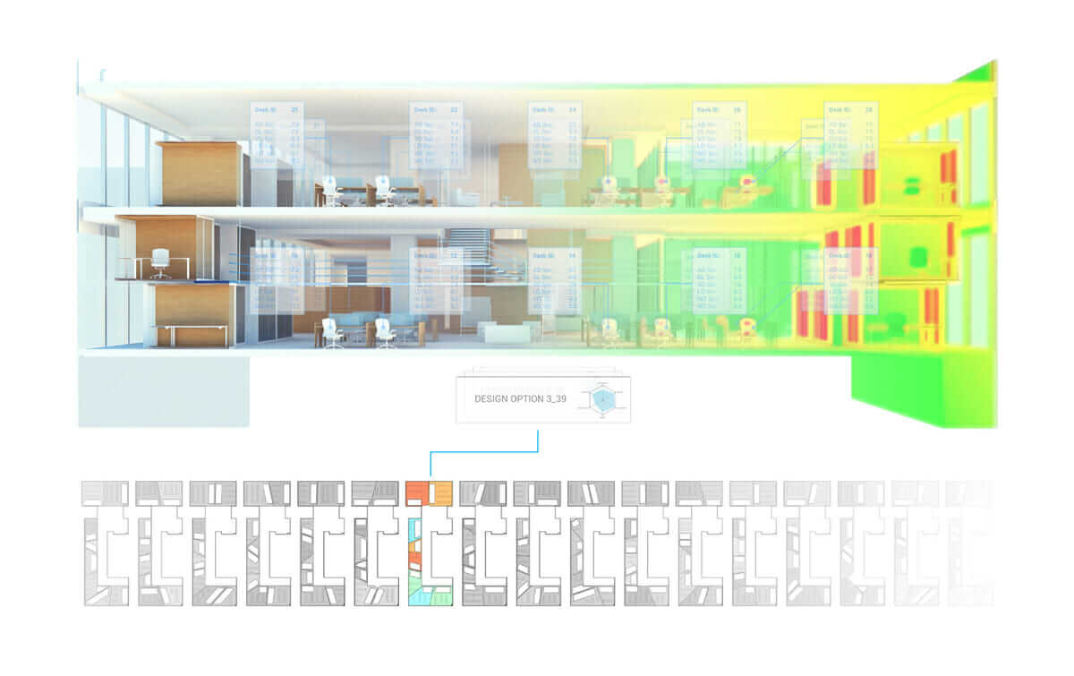 technology predictions Generative design floor-plan options for the MaRS building