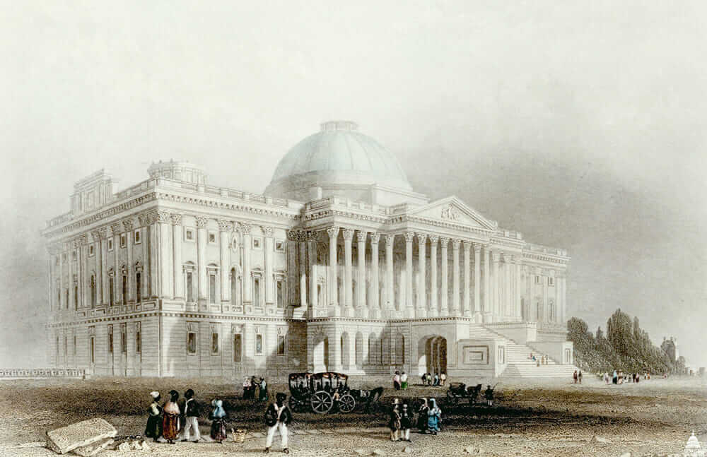 capitol dome restoration Bulfinch illustration