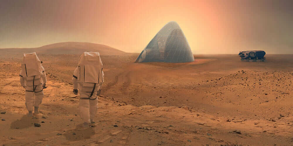 innovative construction materials NASA's Mars Habitat Competition 3D-printed house made of ice