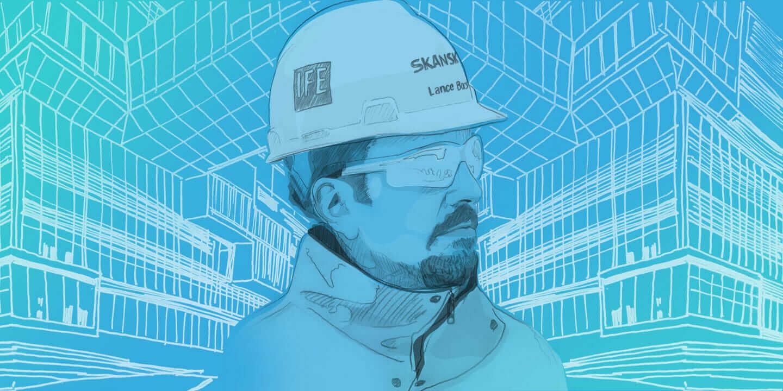 Construction superintendent Lance Borst, Skanksa