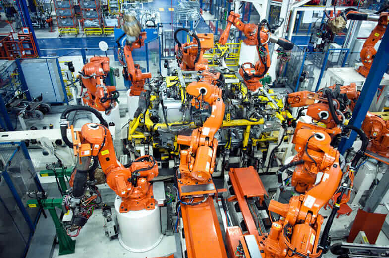 robots at work in the Industrial Internet of Things