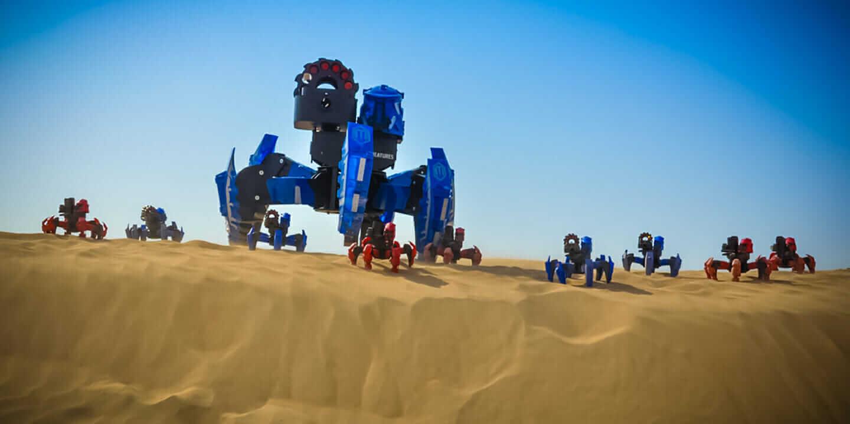 robo challenge Attacknid spider robots