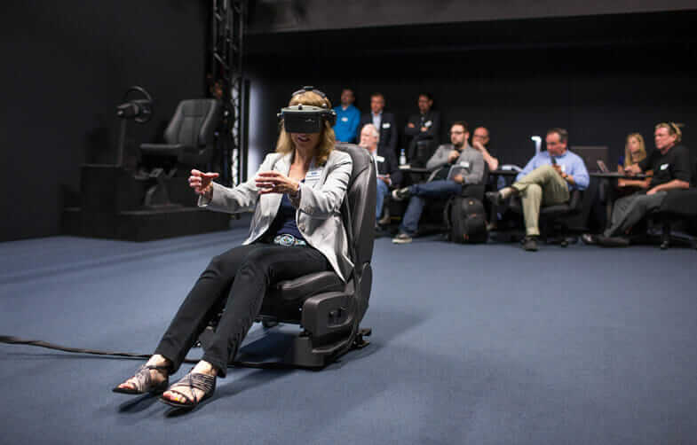 Demonstration of Ford virtual reality technology