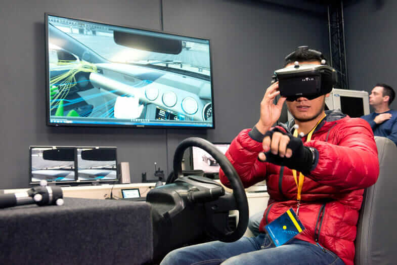 Virtual reality prototype testing in action at Ford