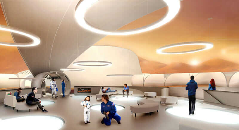 A public space on the Mars City base.