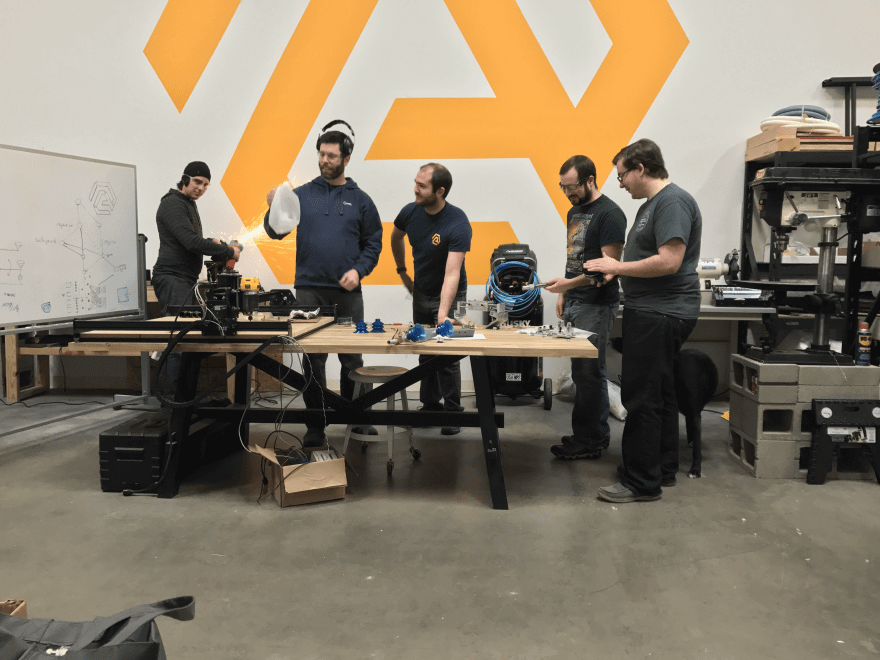 Matanya Horowitz and the AMP Robotics team at work.