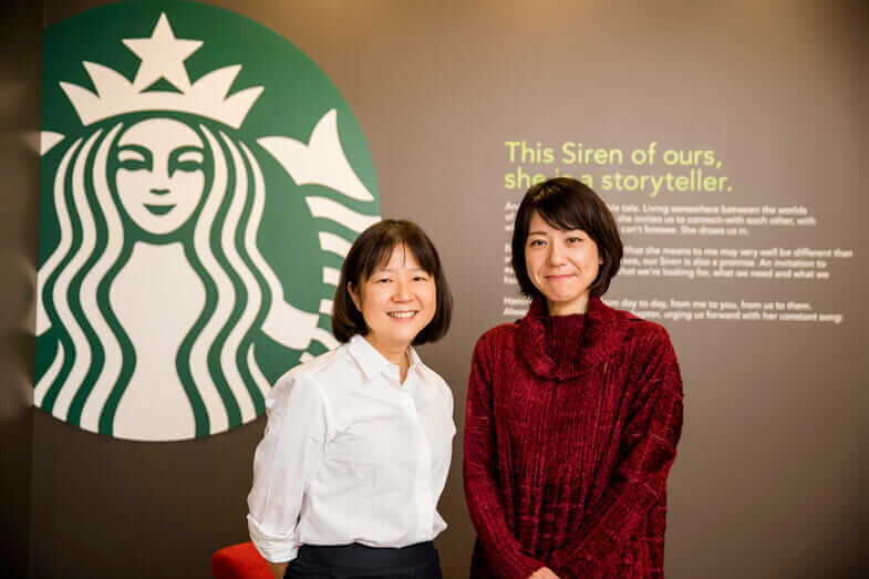starbucks japan Eri Takao and Mayu Takashima