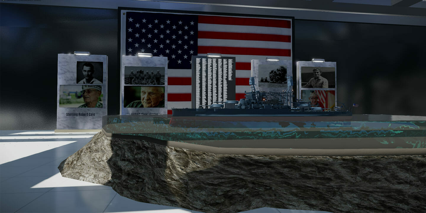 remembering pearl harbor VR experience screenshot of the USS Arizona