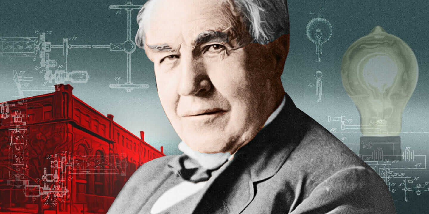 Thomas Edison's accomplishments composite of edison