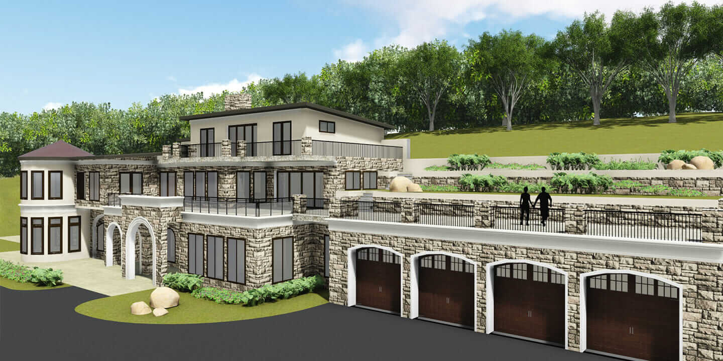 Residential project design using passive geothermal energy in Frederick, Maryland.