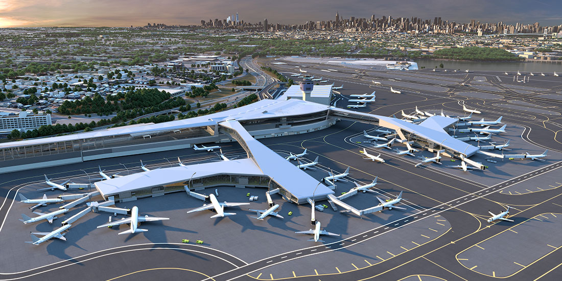 bird's eye view of LaGuardia expansion