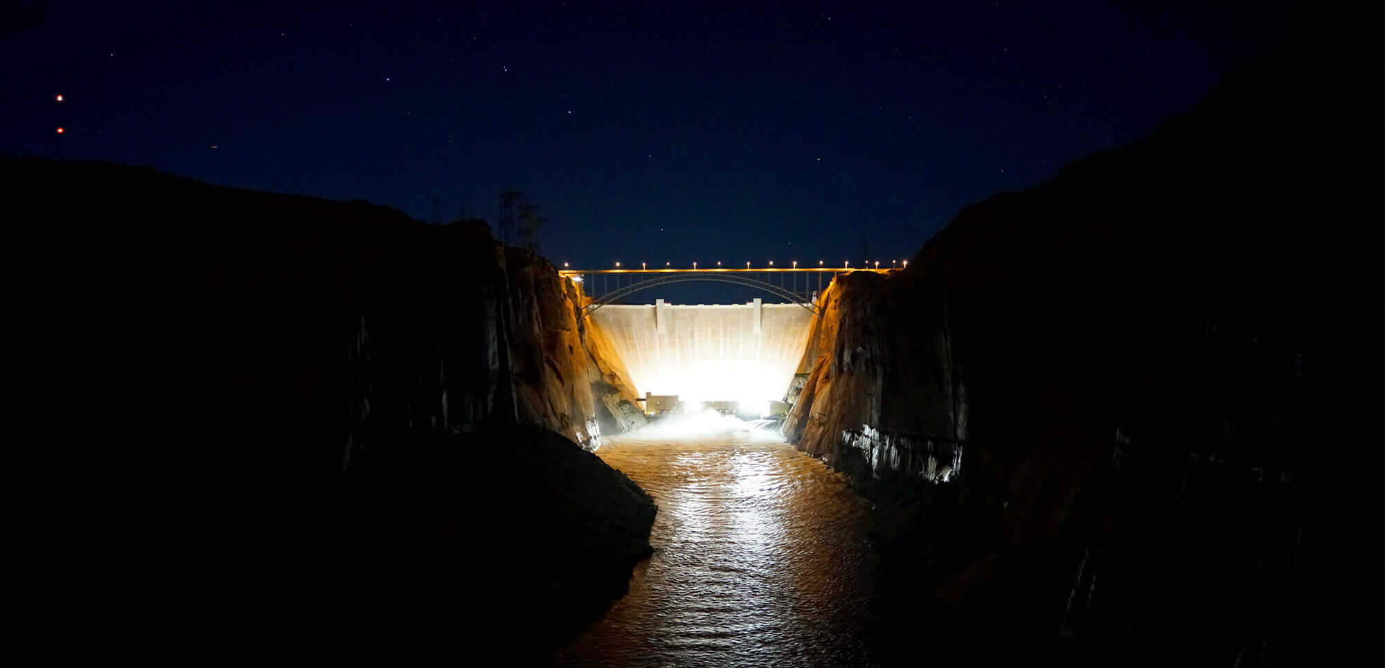 critical infrastructure protection The Big Dipper over Glen Canyon Dam during the High Flow Experiment