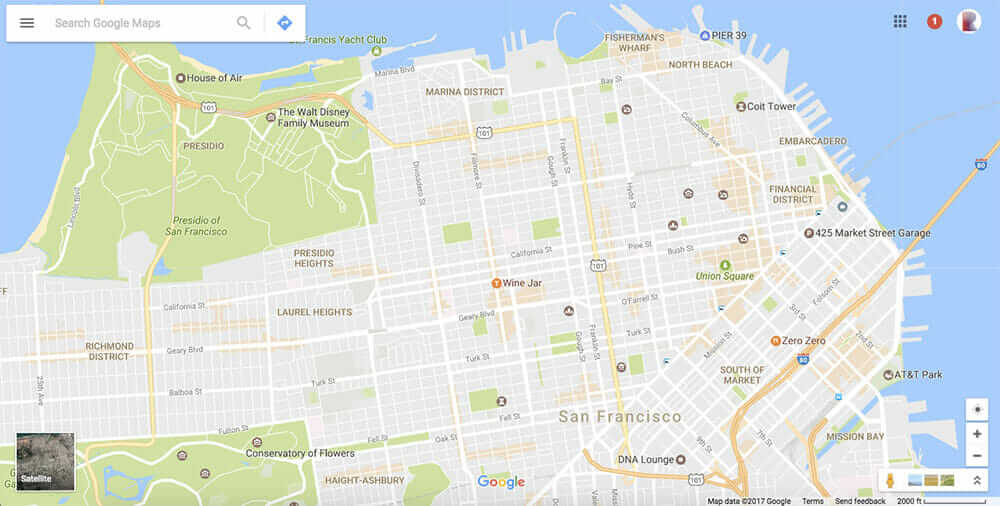 Google Maps San Francisco