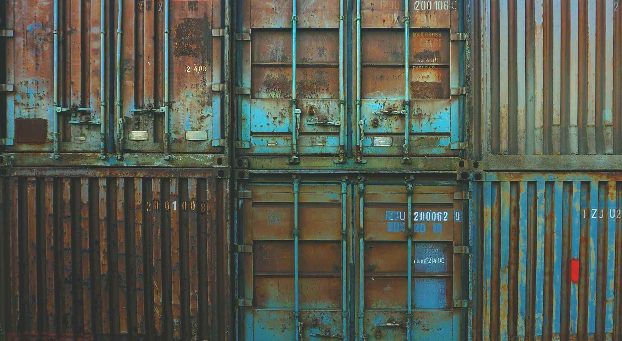 Shipping containers at a Panama Canal port