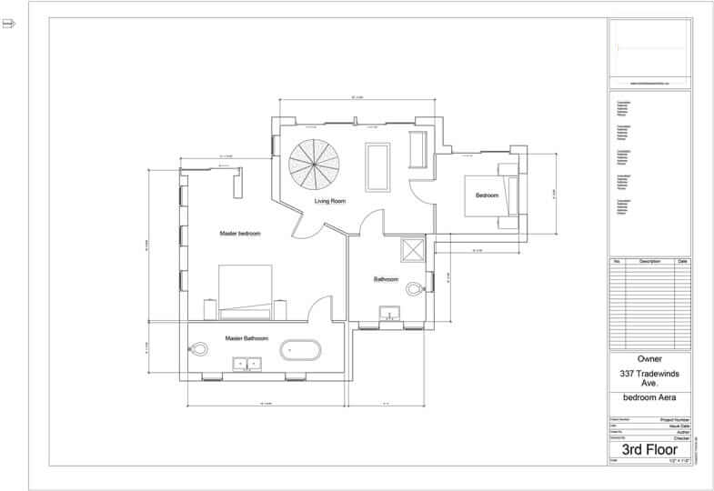 Floor plan for a luxury home in Naples used for architect marketing.