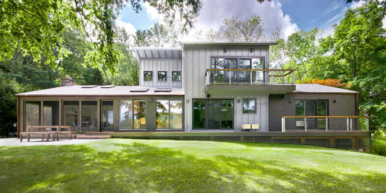 Mark R. LePage's Katonah Lake Shore home, part of his architectural marketing portfolio.