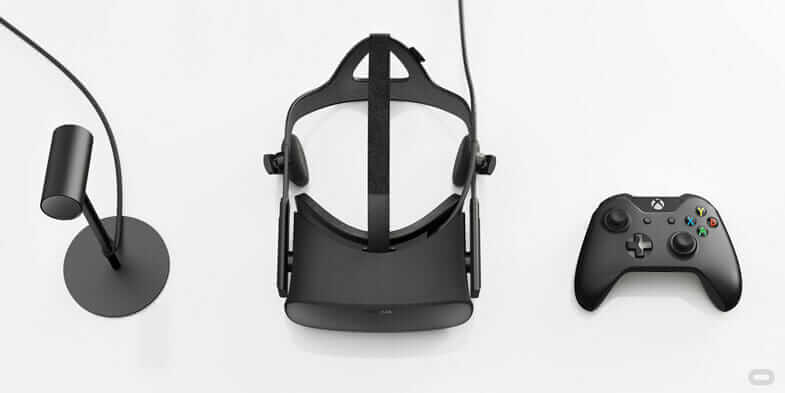 Headset used to enable VR architecture by Oculus Rift