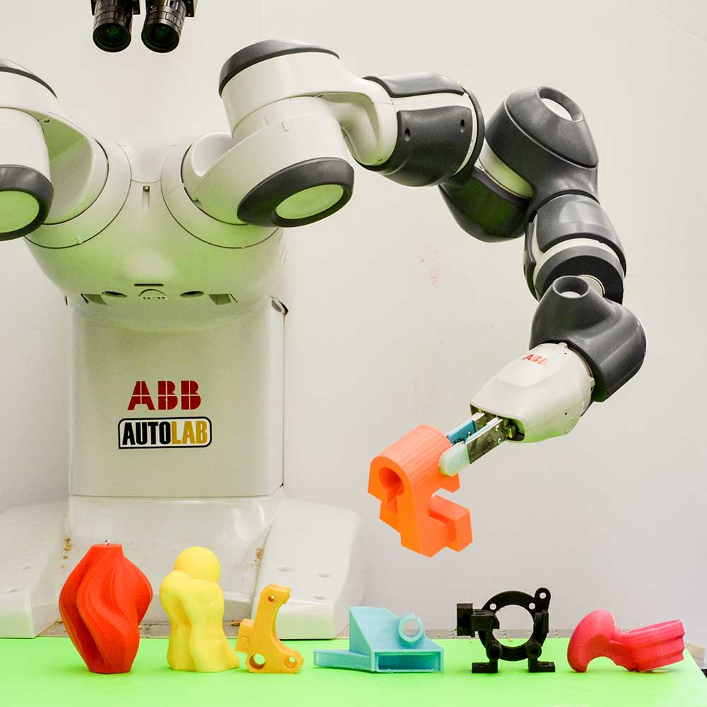 ABB YuMi robot with grips