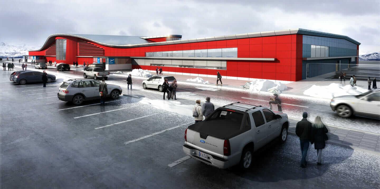 Iqaluit International Airport in Nunavut, Canada.