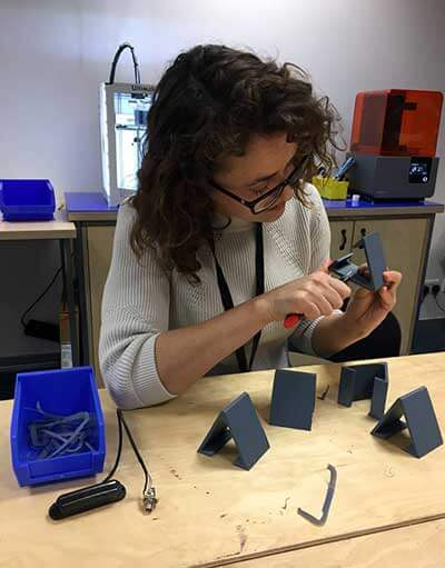 Do It Kits CEO Helen Steer working on a prototype.