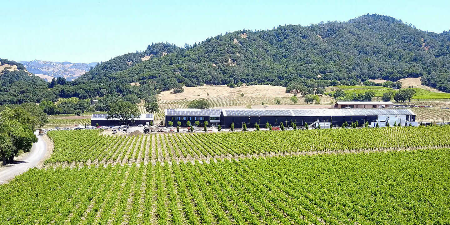 Silver Oak's Alexander Valley facility sets a new standard of sustainability for the winemaking industry.