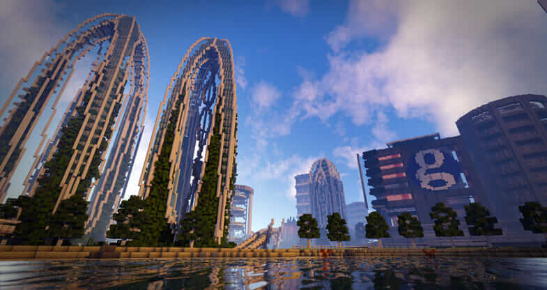 clean and sustainable architecture in Minecraft