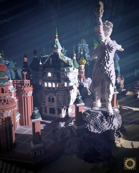 A fantasy and Slavic inspired Minecraft architecture creation