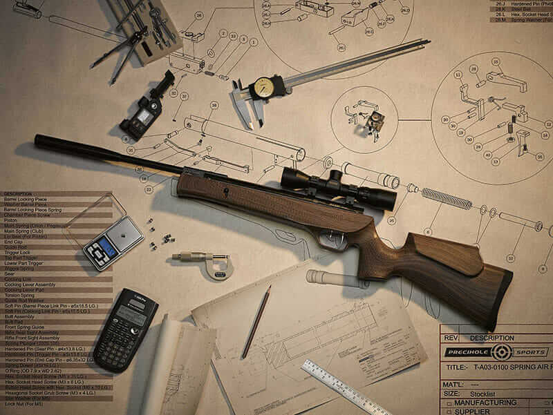 machine tool design sports rifle